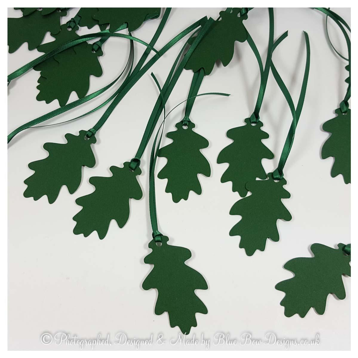 Forest green oak leaves