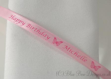 Pink Happy birthday ribbon