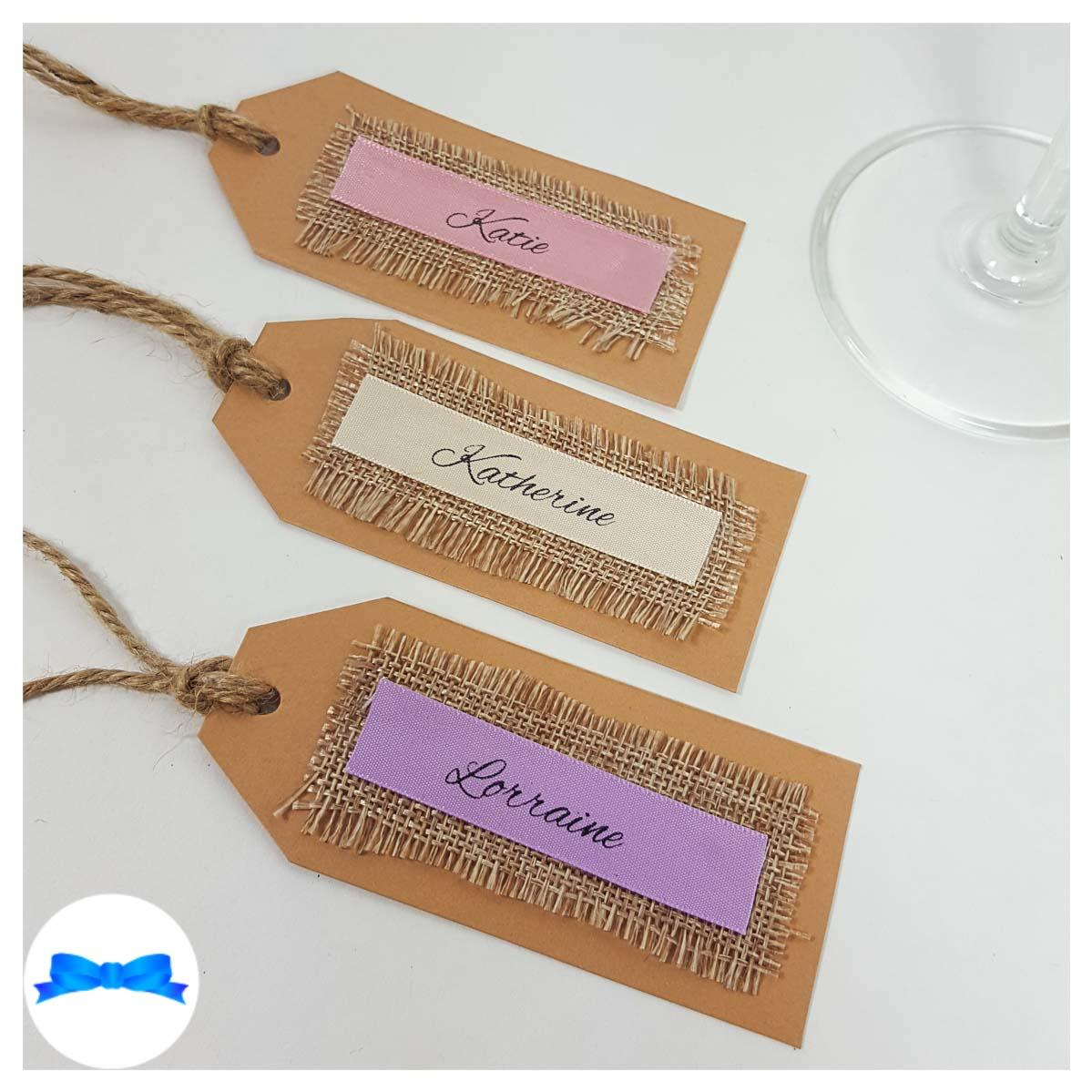 Rustic wedding place cards and tags