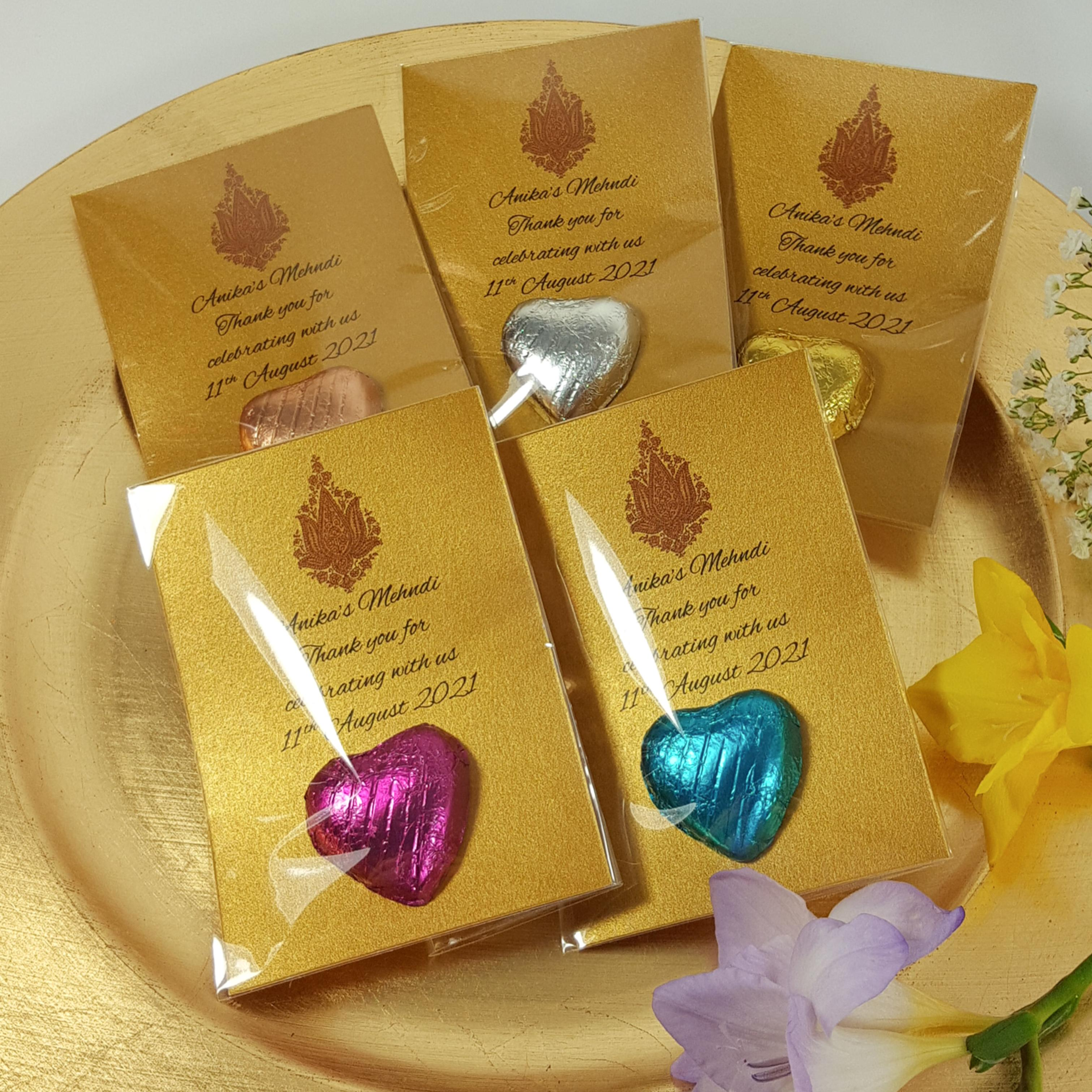 Mehendi Chocolate Favours