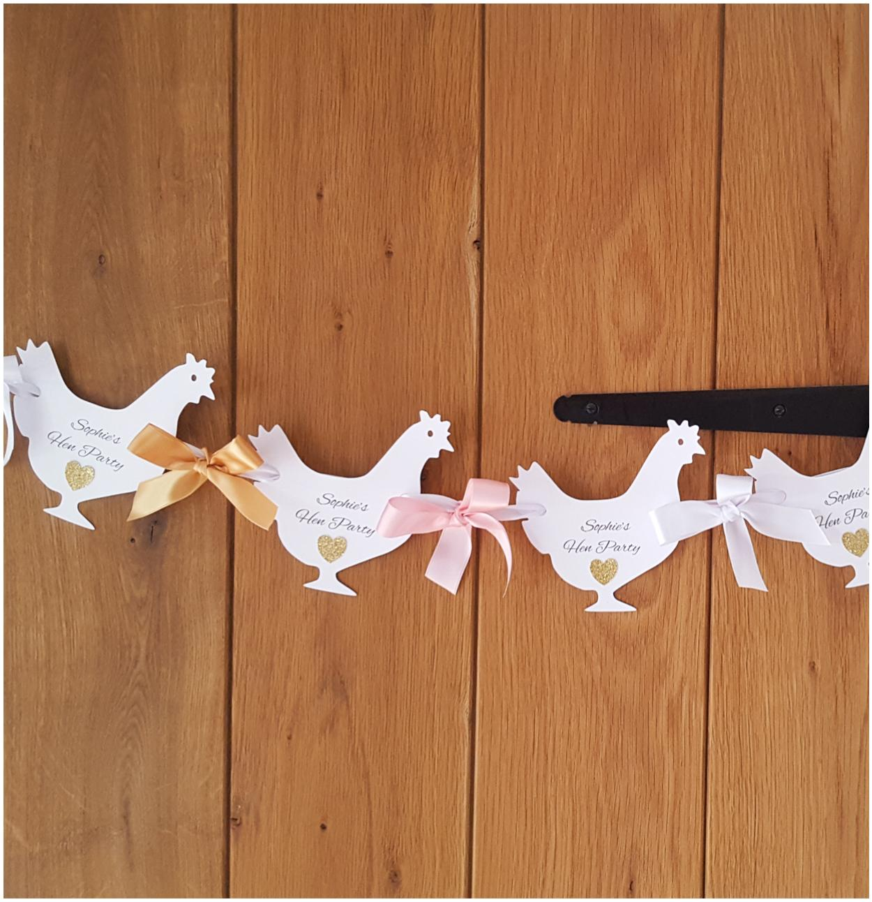 Personalised Hen shaped hen party bunting