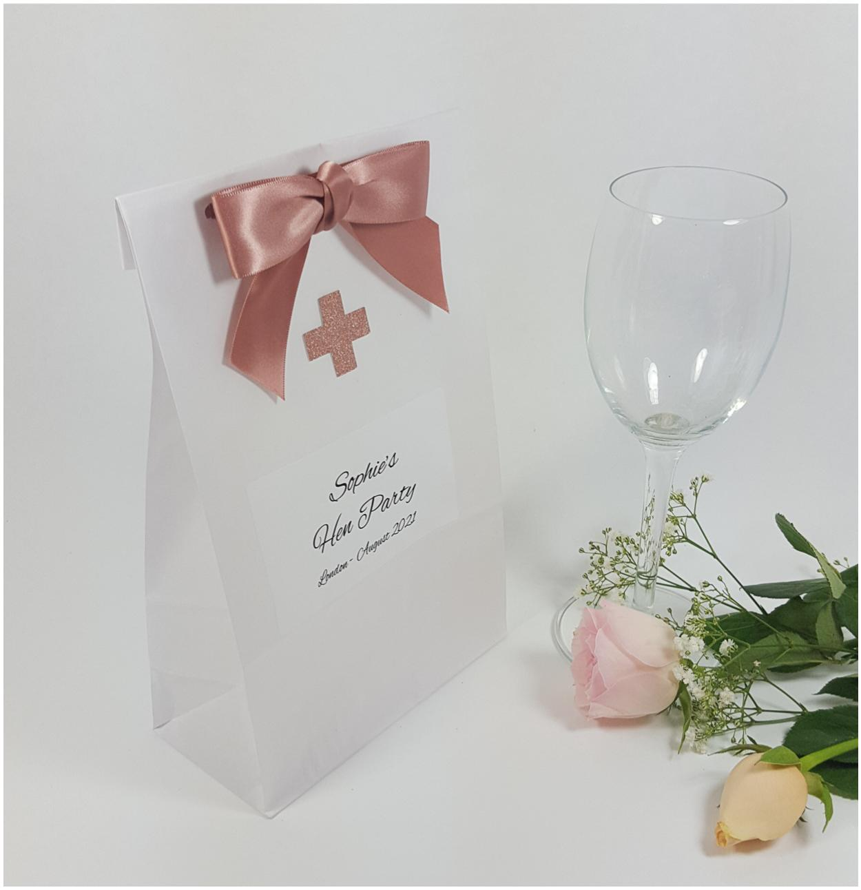 Personalised hen party bag
