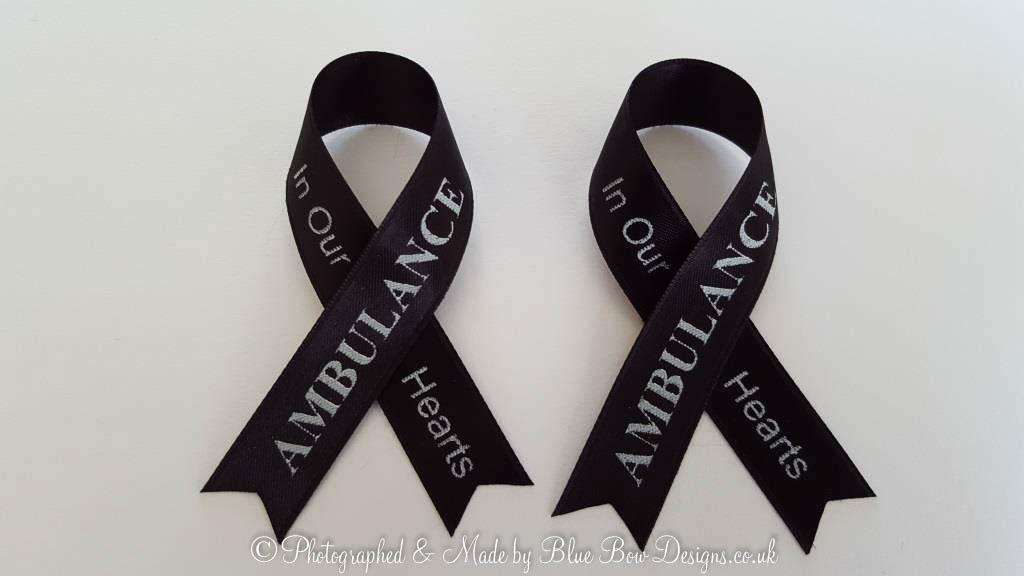 Black memorial ribbon