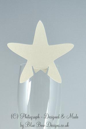 starfish wine glass place card