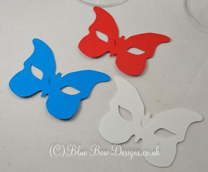 No1 butterfly wine glass place card masks