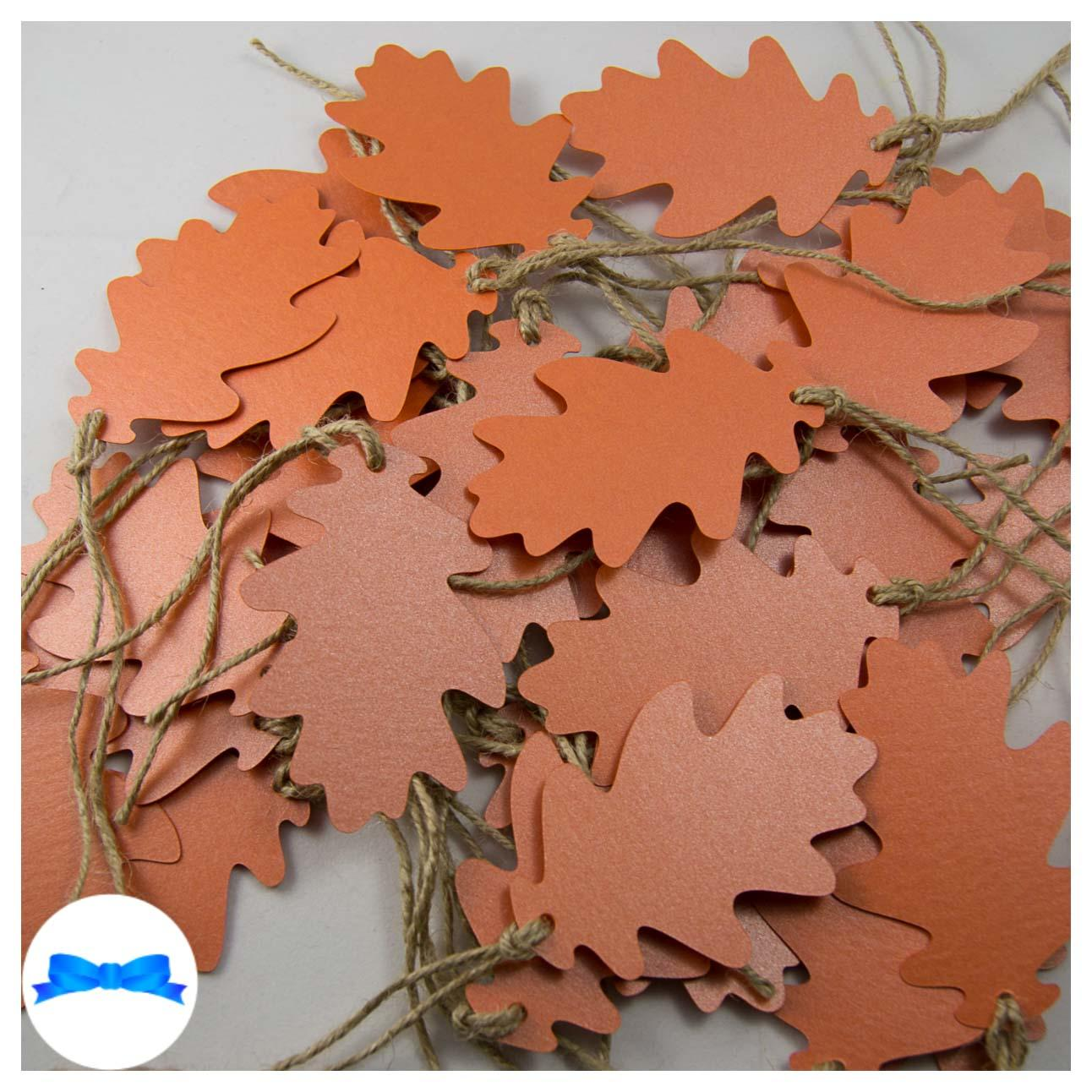 Burnt orange oak leaves