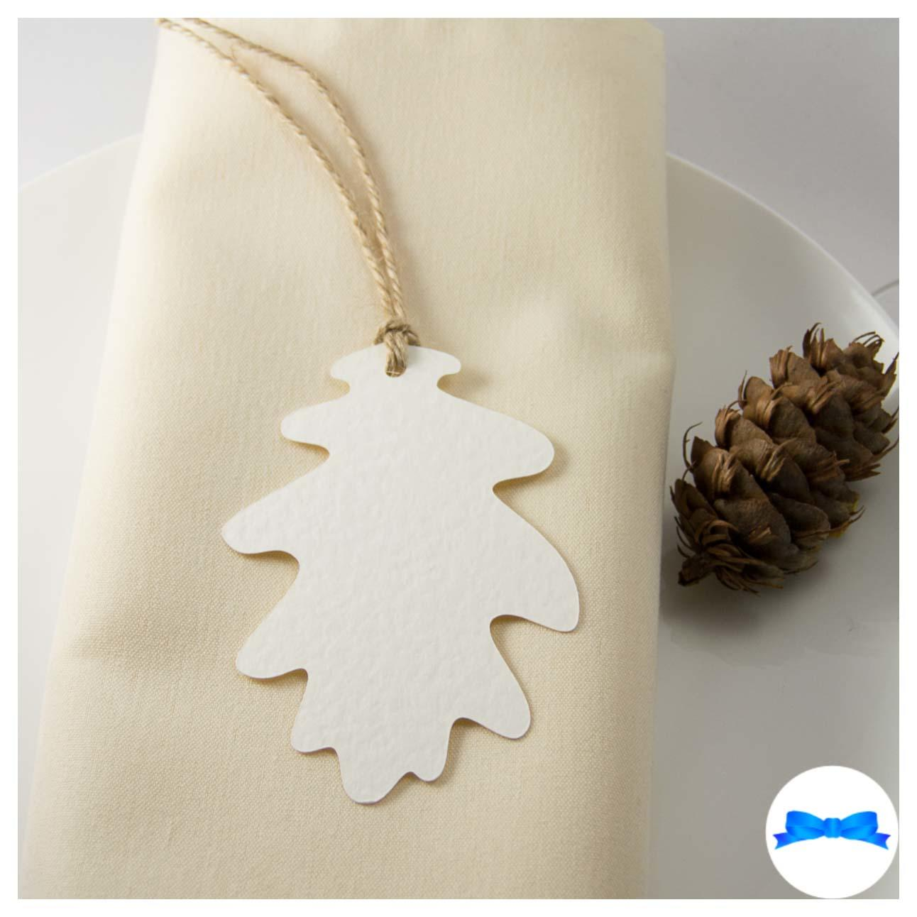 White oak leaf tag