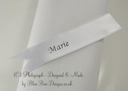 Satin ribbon names for own items