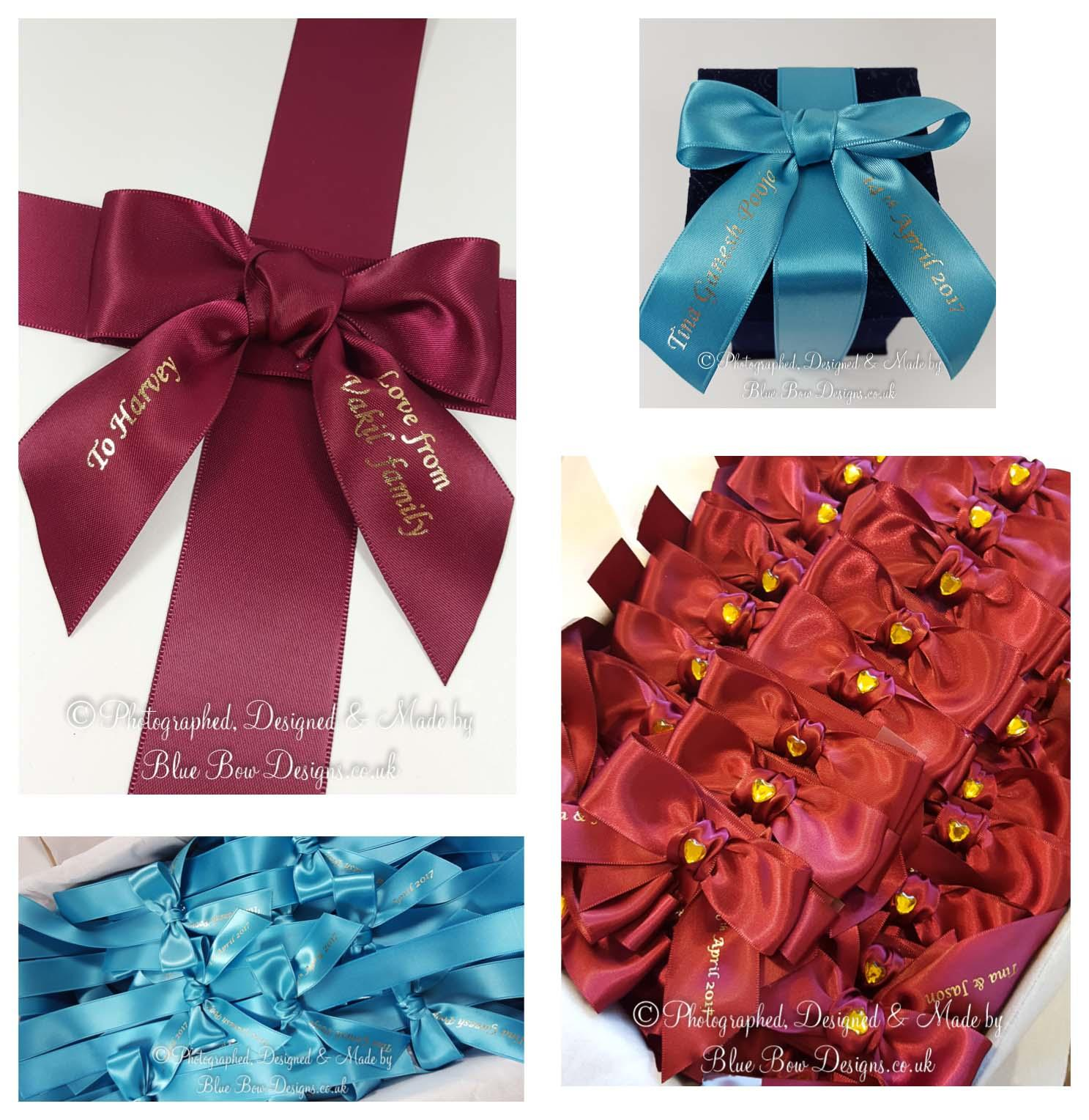Printed ribbon for bows