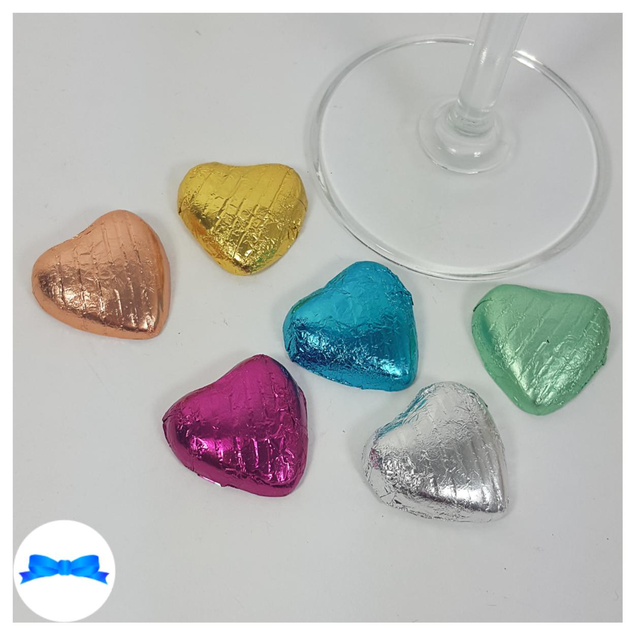 Chocolate hearts favour colours
