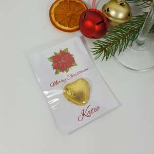 Poinsettia Place card favour