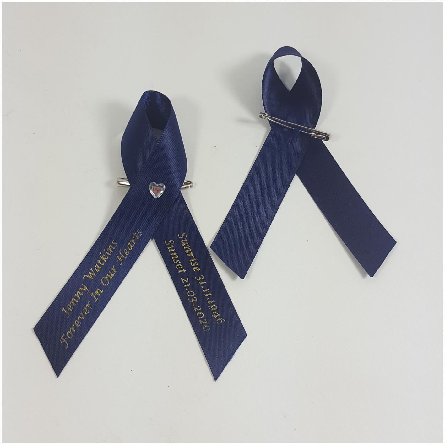 Heart memorial Ribbon