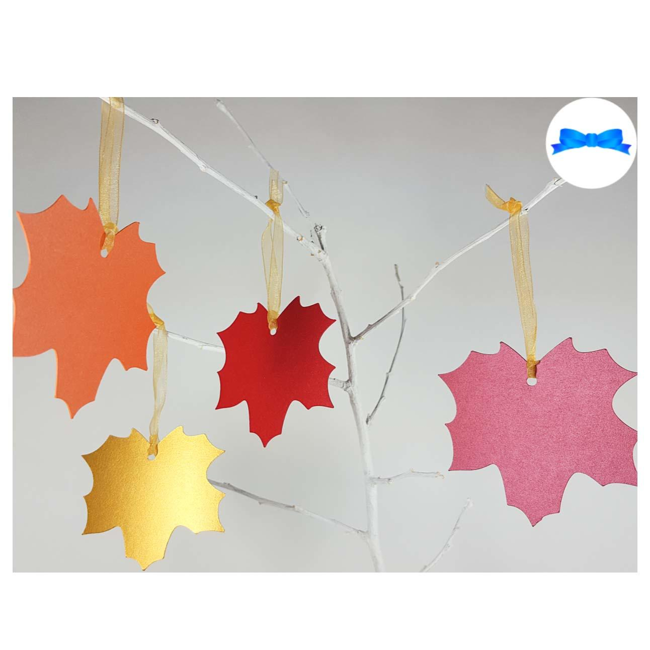 Maple leaf tags autumn colours