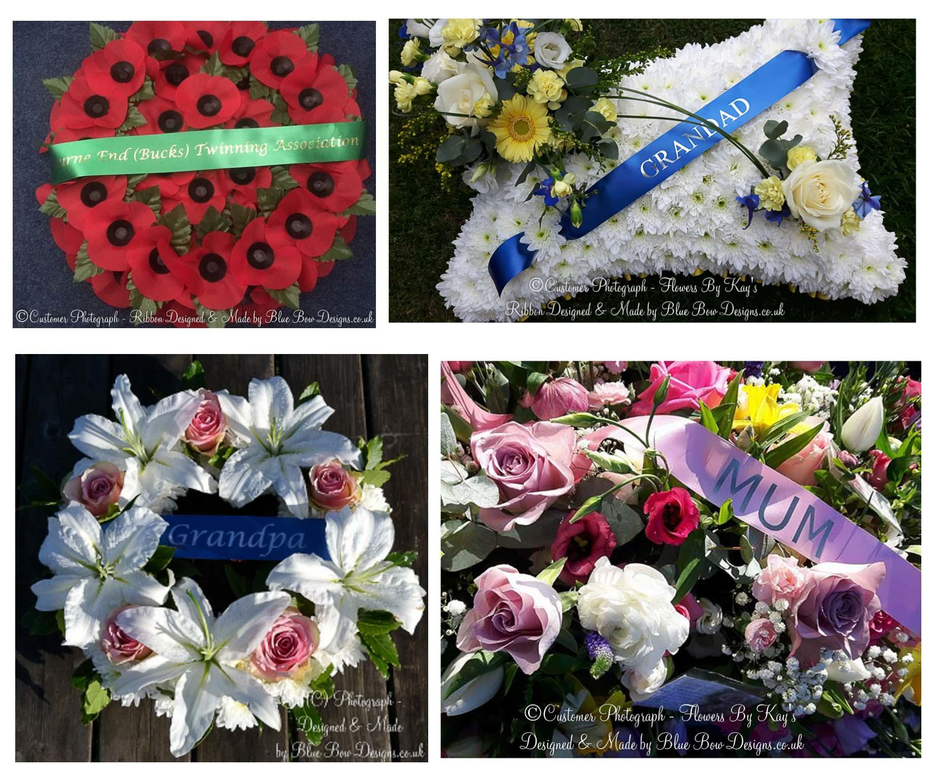 Funeral wreath ribbons