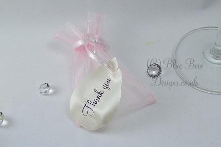 White personalised petals