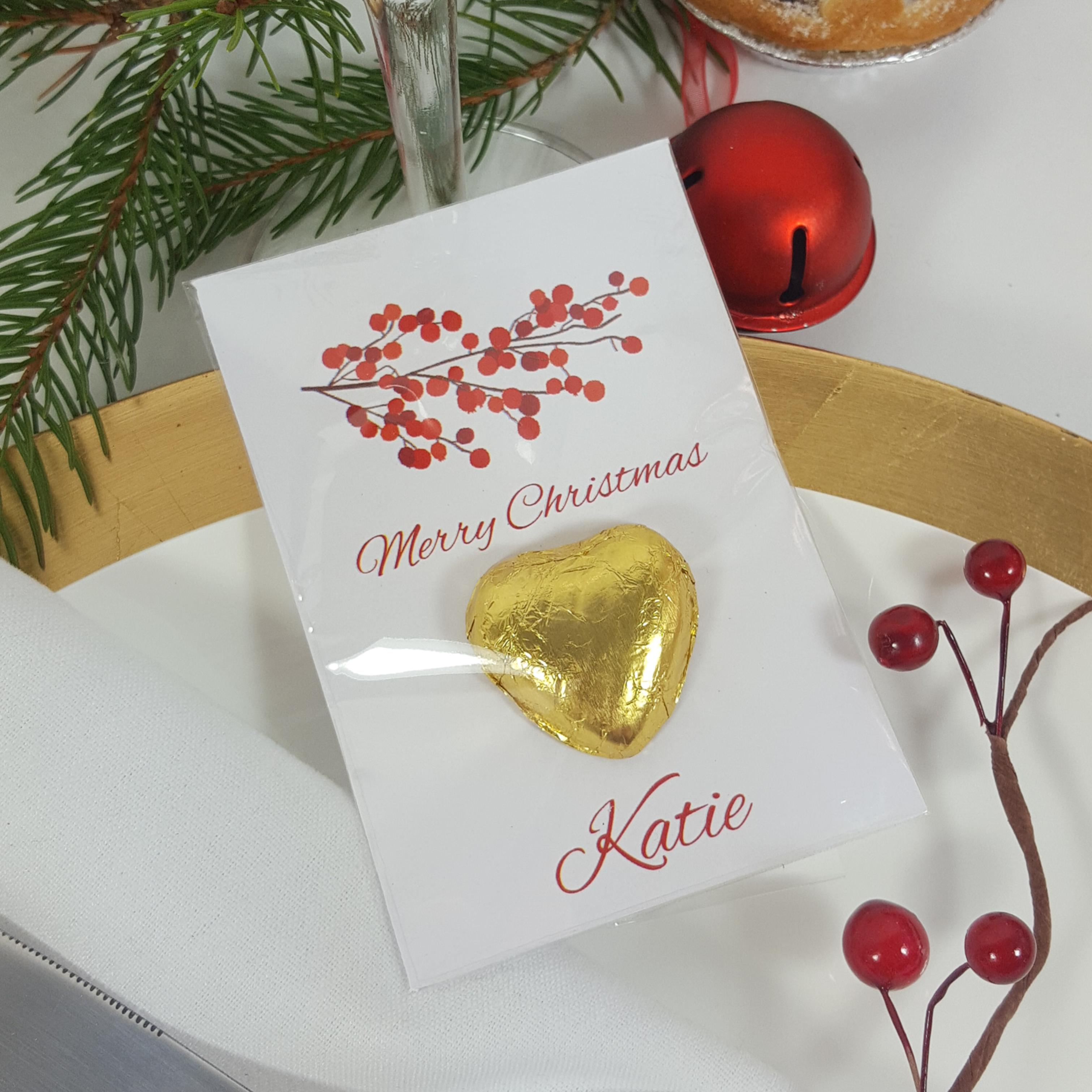 Red berries  place card