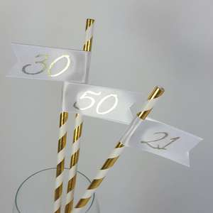 Number birthday Straws