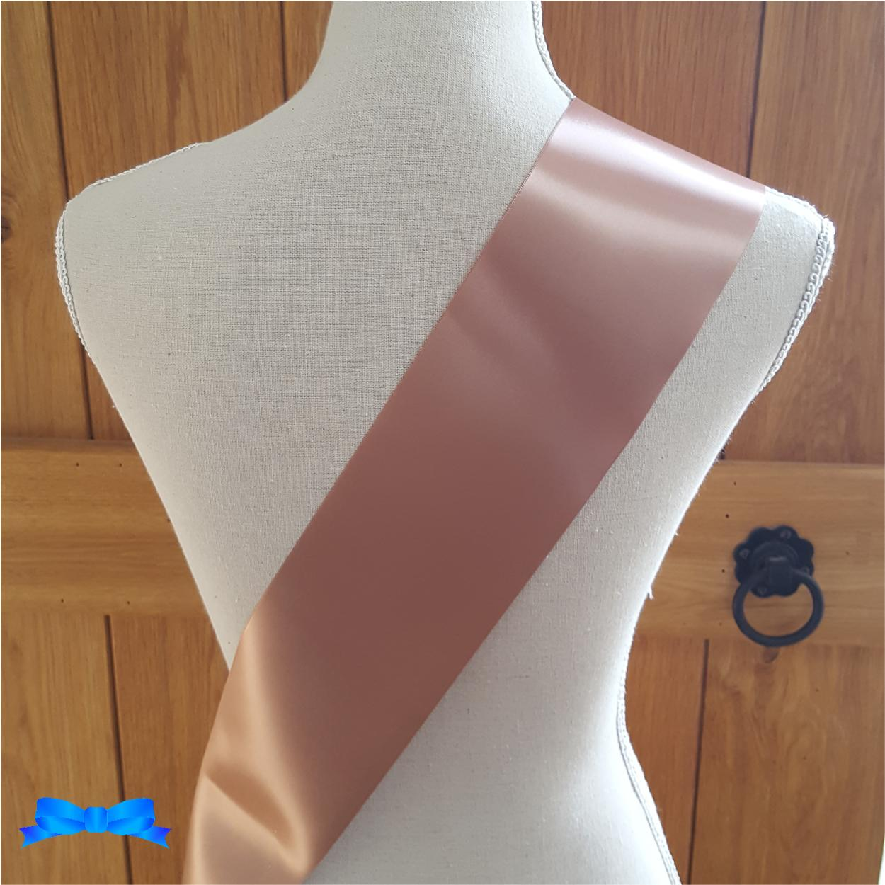 Back of  rose gold sash