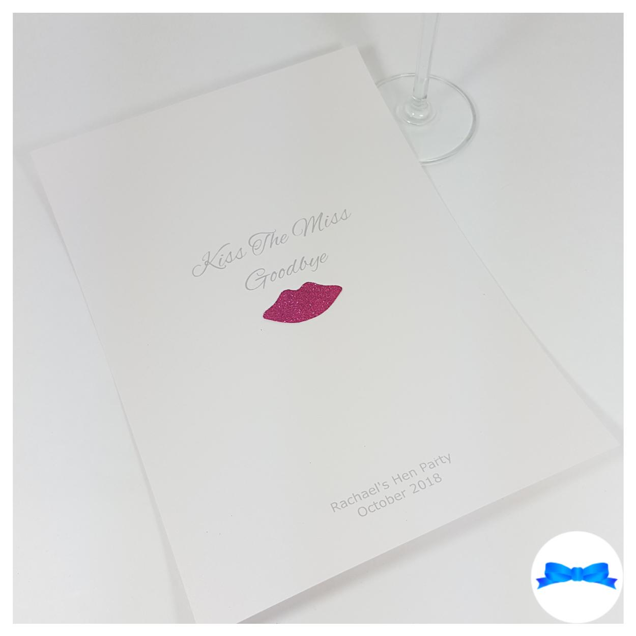 Kiss the miss goodbye card