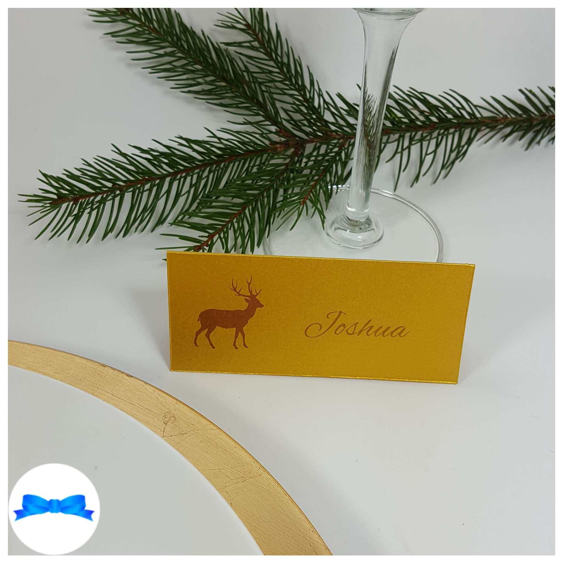 Kraft brown Reindeer place cards