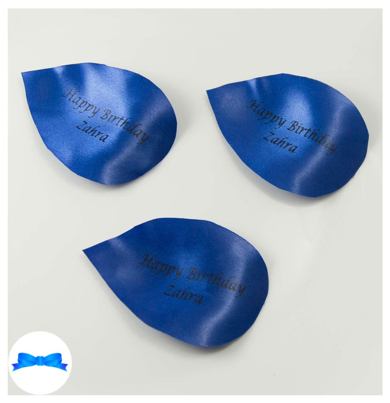 Royal blue personalised petals