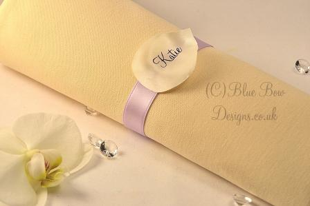 White personalised petal