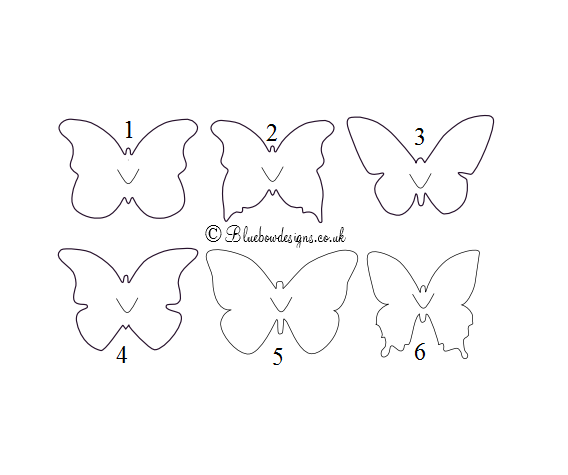 Butterfly shapes for table name cards