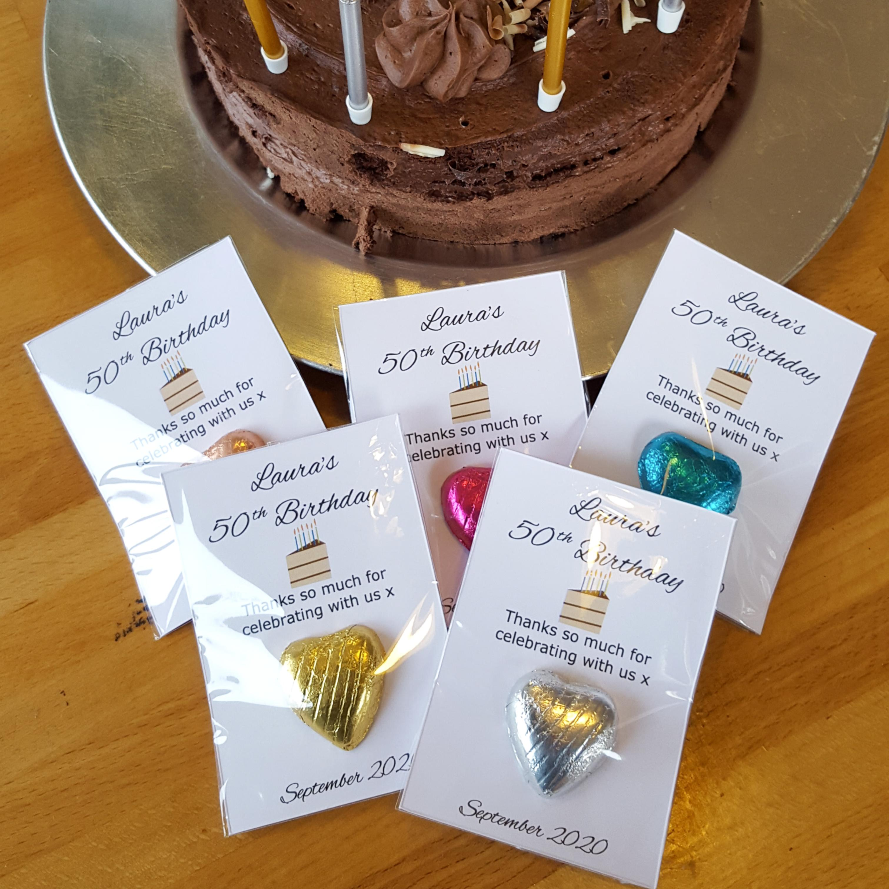 Personalised Chocolate Birthday Favour Sweets