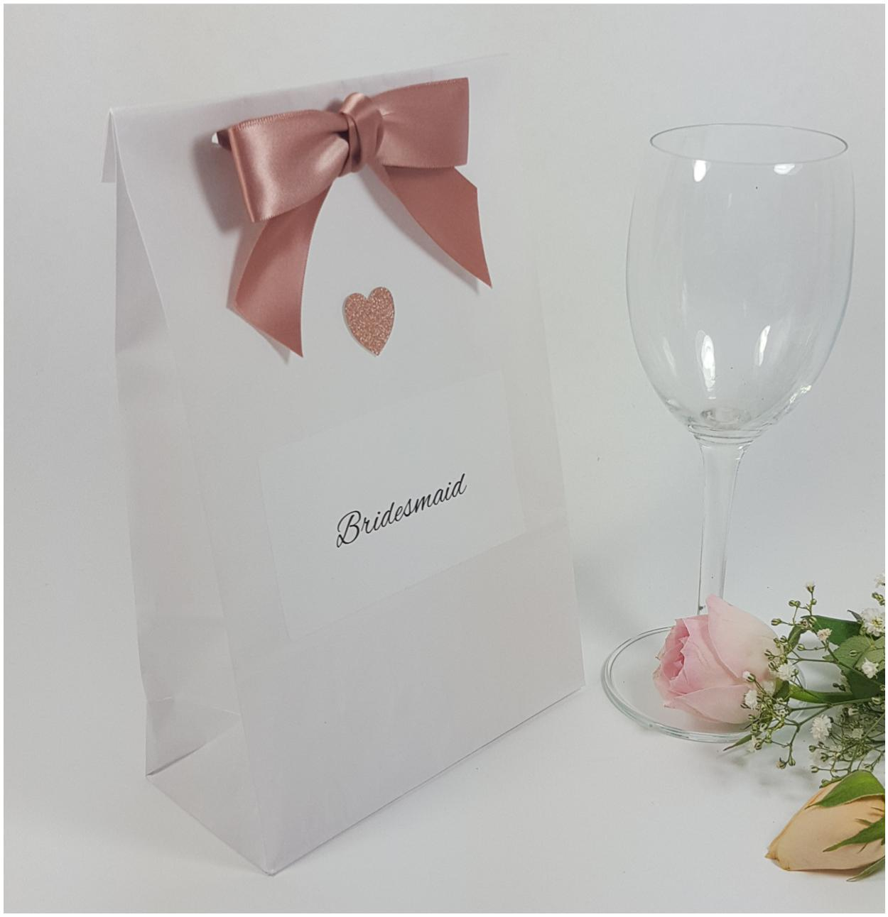 Personalised Bridesmaid hen party bag