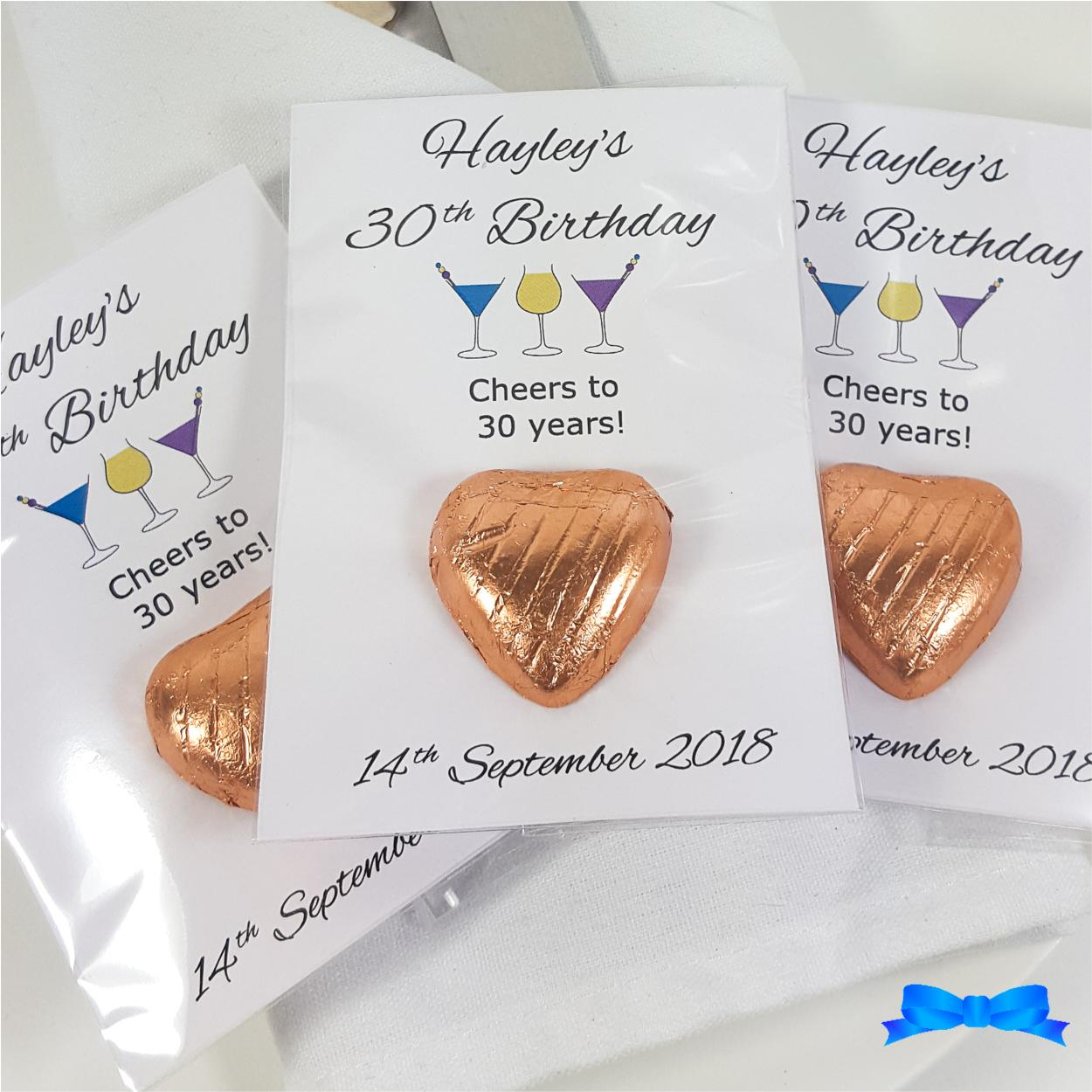 Personalised hen party Favours with cocktail glasses