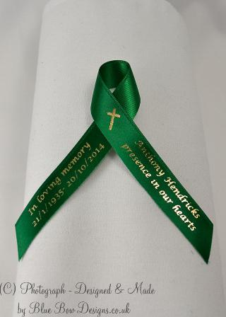 Emerald green memorial ribbon