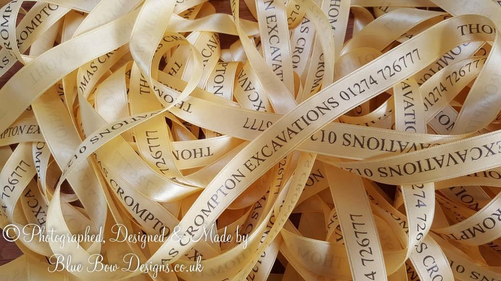 15 mm gold personalised ribbon