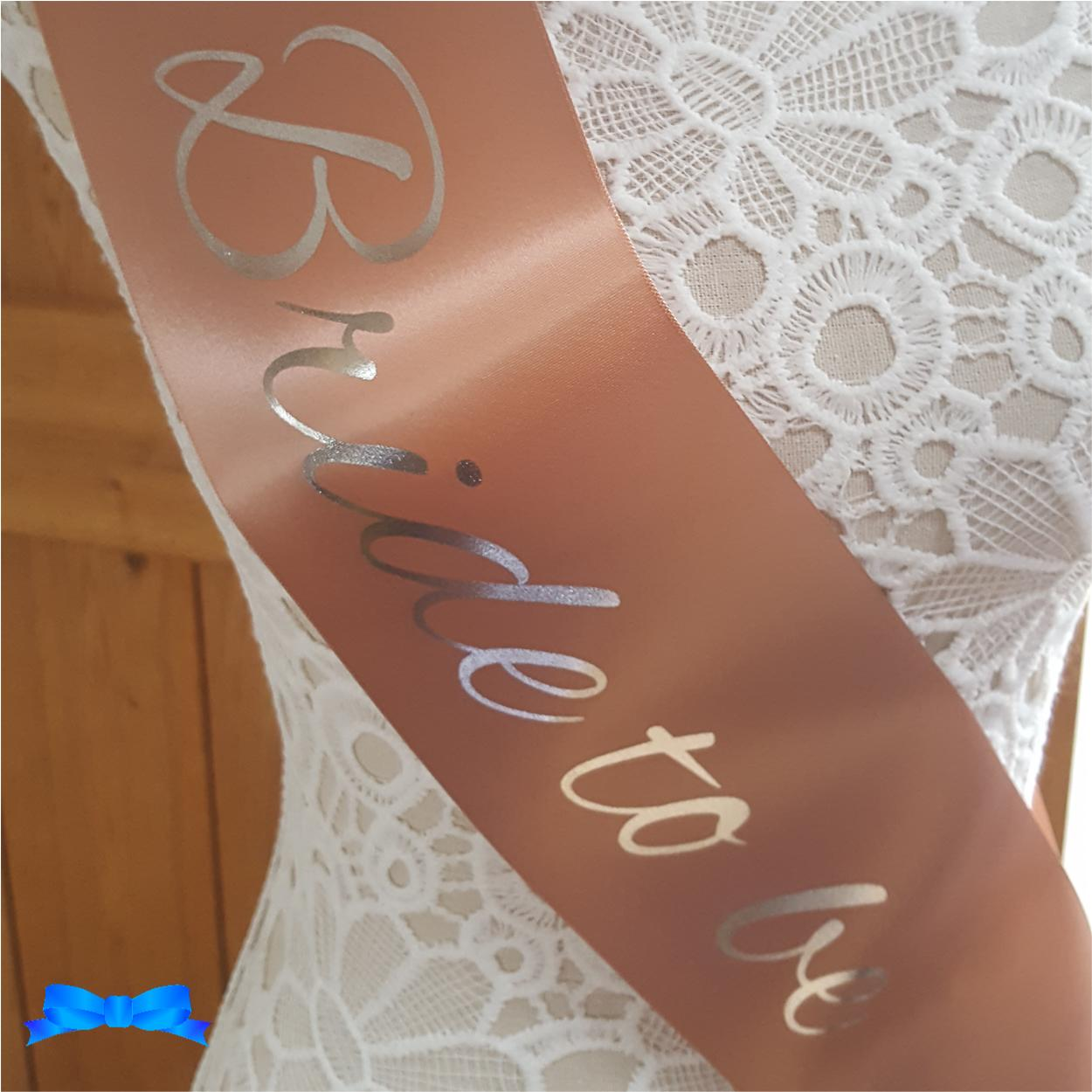 Future mrs rose gold personalised sash
