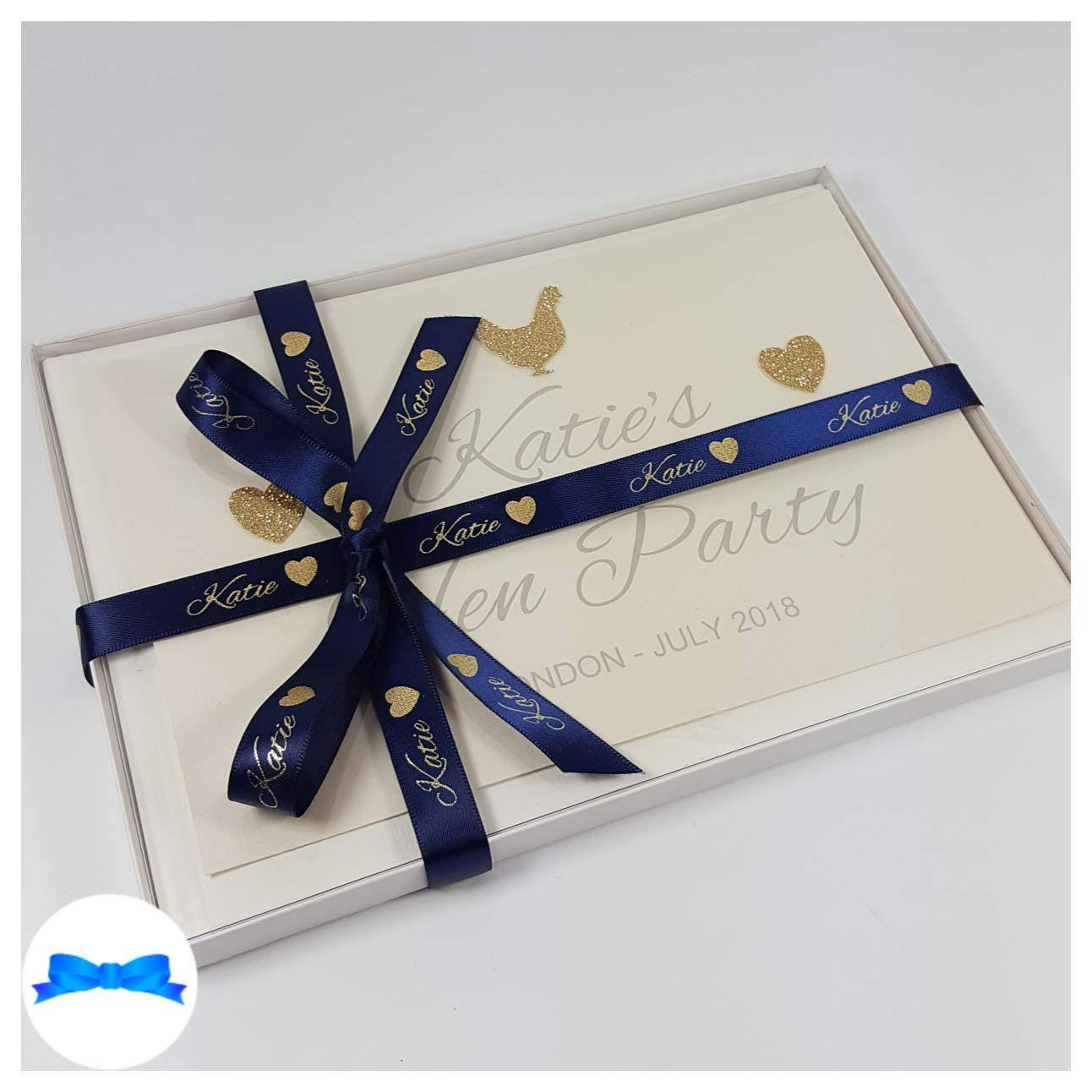 Navy and gold hen party book