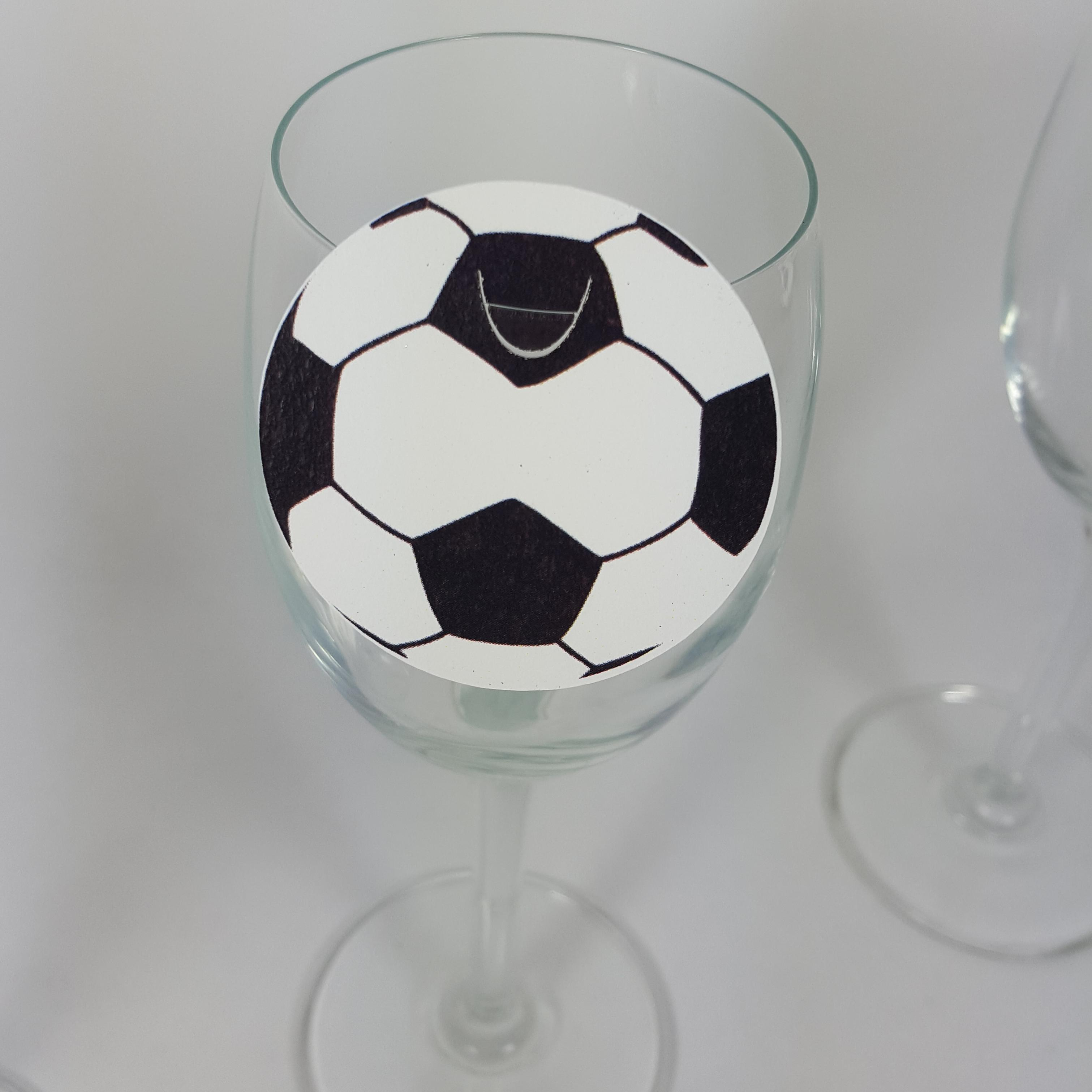 Football wine glass place cards