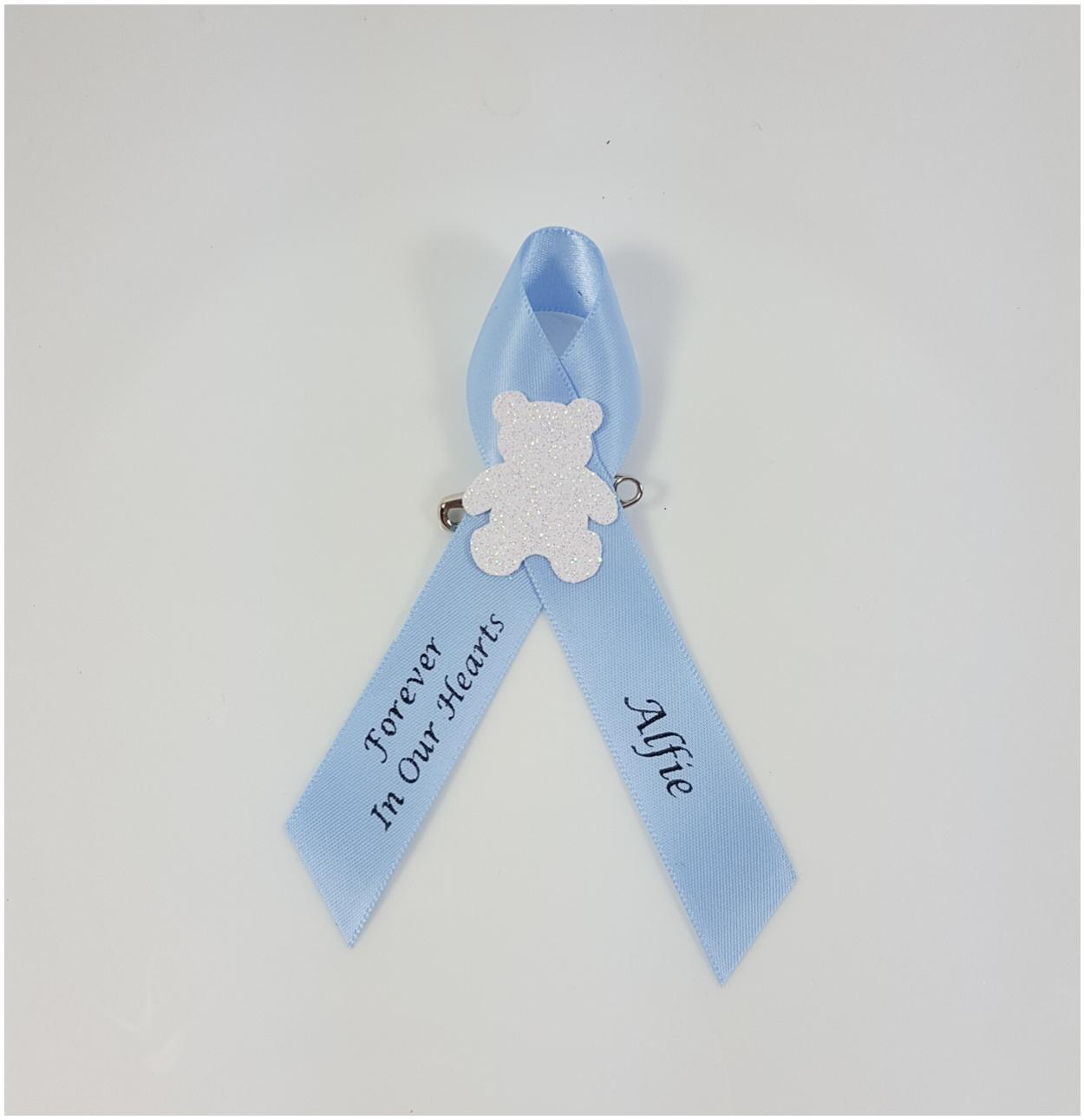 Baby Loss Funeral memorial ribbons