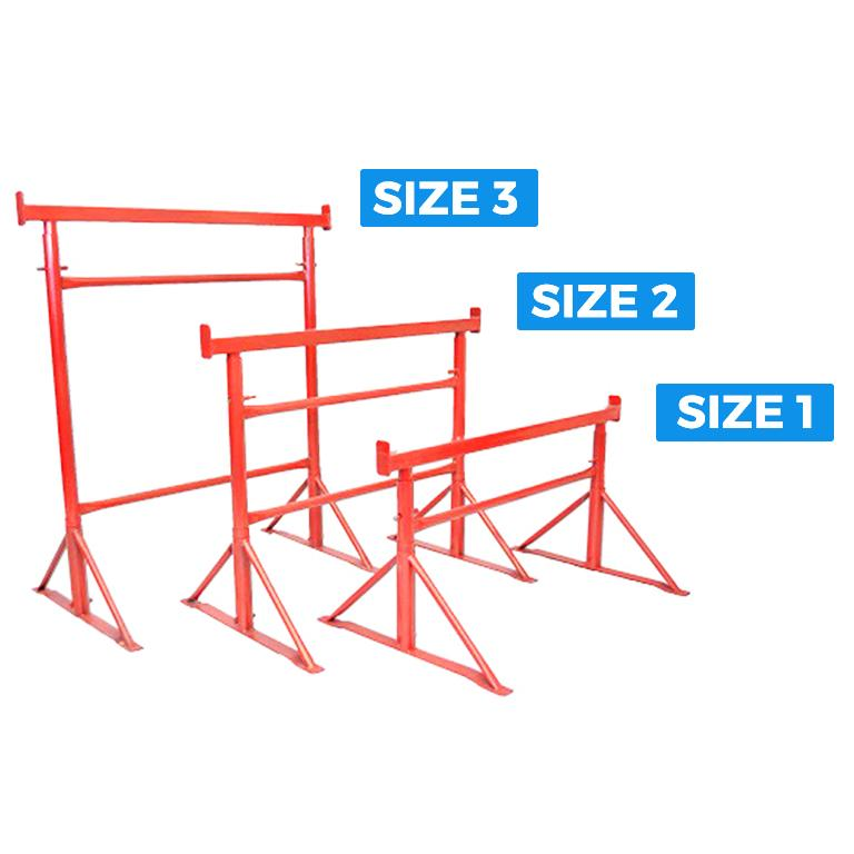 Builders Trestles with Labels
