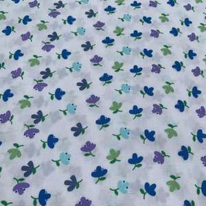 White Fabric with Flowers