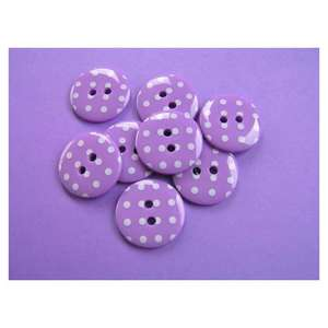 Spotty Button Purple with white spots