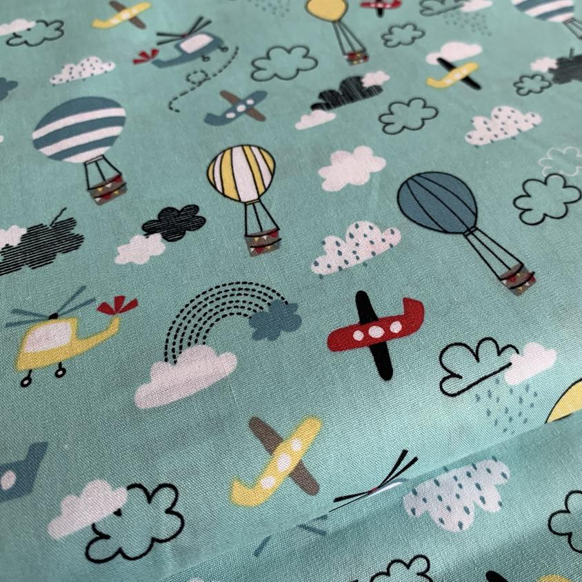 Aeroplane and Hot Air Balloon Fabric