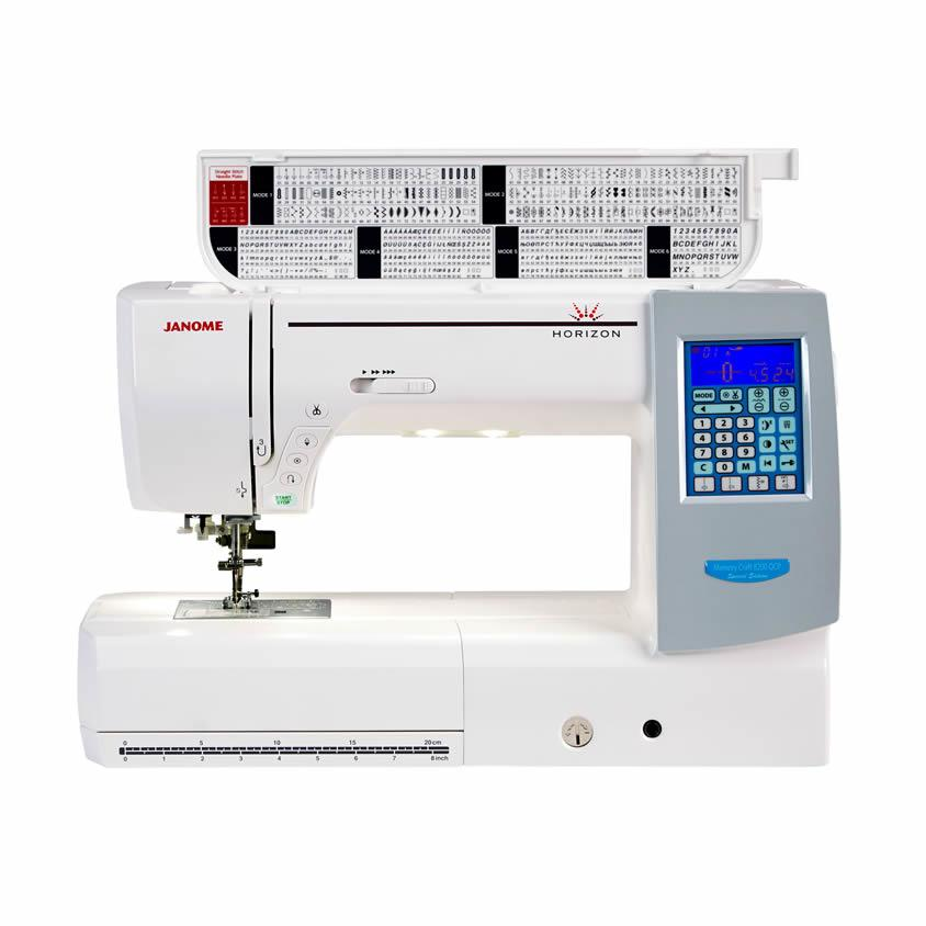 Janome Horizon 8200QCP Special Edition Sewing Machine Top Open