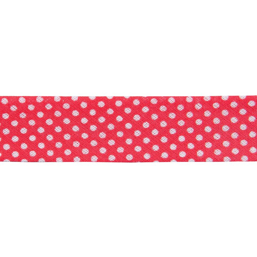 Dots Red Bias Binding