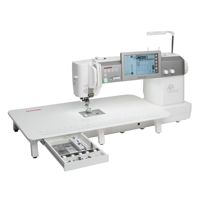 Janome Continental M7 Professional Sewing Machine with table