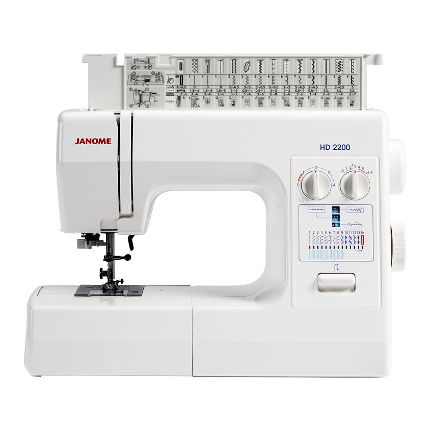 Janome HD2200 Sewing Machine Top Open