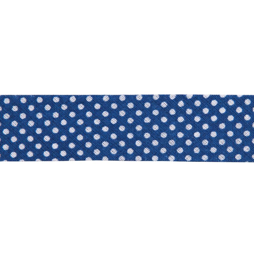 Dots Navy Blue Bias Binding