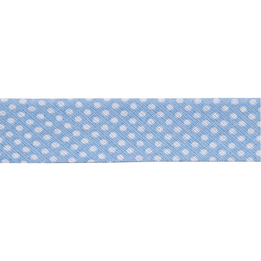 Dots Light Blue Bias Binding