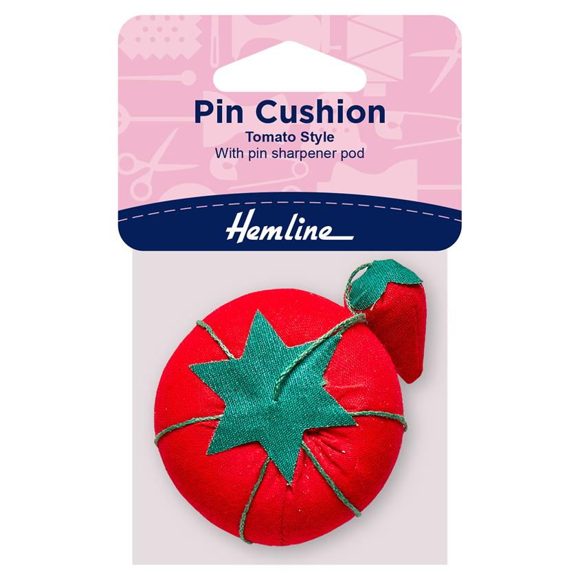 Hemline Tomato Pincushion with packaging