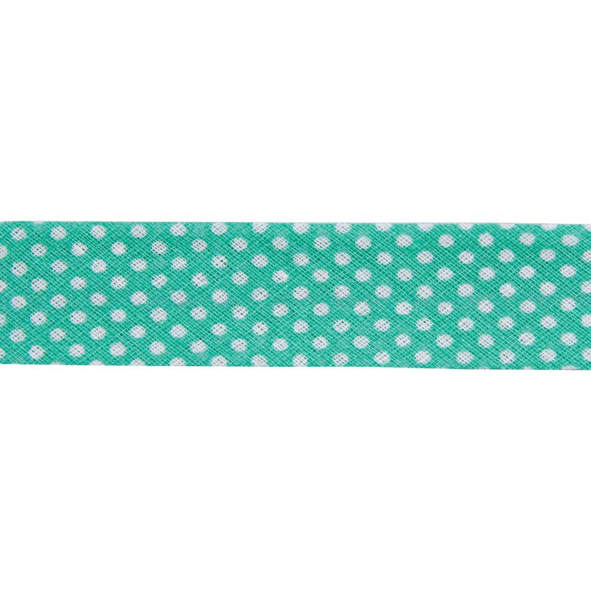 Dots Light Green Bias Binding