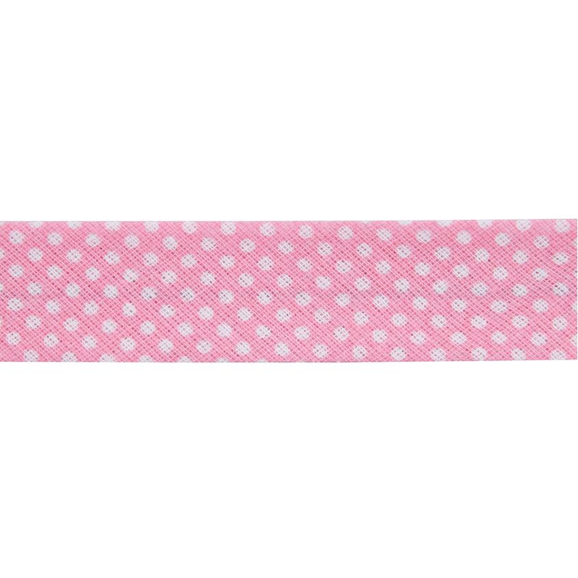Dots Pink Bias Binding
