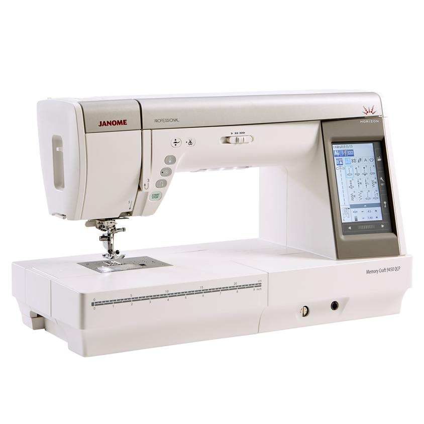 Janome Memory Craft 9450QCP Sewing Machine Angled